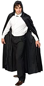 Rubie's Costume Full Length Hooded Cape Role Play Costume, Black, One Size