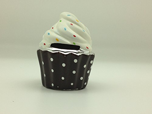 Ceramic Cupcake Bank - Brown - 1