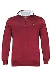 UV&W Full Sleeve Turtleneck Men's Burgundy Sweatshirt