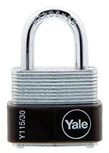 Yale Y115/30/117/1 Laminated Steel Padlock with Brass 3-Pin Key Cylinder, 1-3/16-Inch Wide at Sears.com