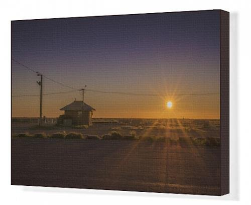canvas-print-of-sunset-at-parachilna-outback-south-australia