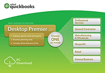 QuickBooks Desktop Premier 2017 with Industry Editions Small Business Accounting Software [PC Download]