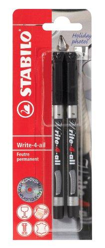 stabilo-write-4-all-pochette-de-2-marqueurs-noir-encre-permanente-pointe-medium-10mm