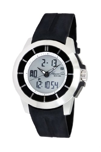 Kenneth Cole New York Men's KC1849 KC-Touch Silver Touch Screen Black Strap Watch