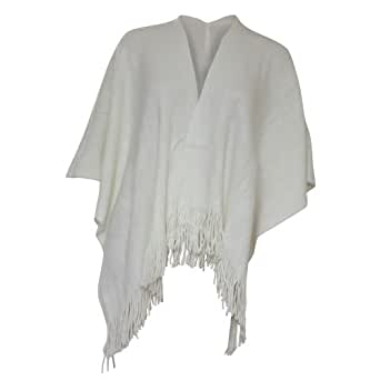 Ladies/Womens Large Soft Feel Winter Scarf/Poncho (One Size) (Cream)