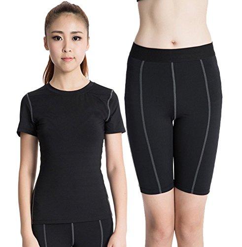 Liveinu Women's Powertrain T-Shirt and Short Black L