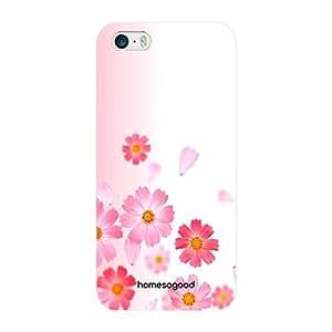 HomeSoGood Contrasting Design Floral Pattern Multicolor 3D Mobile Case For iPhone 5 / 5S (Back Cover)