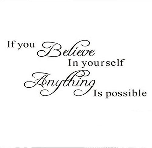 Hipzop-1PC-Believe-Anything-is-Possible-Croyez-Tout-est-possible-Stickers-Inspirational-Wall-Sticker-DIY