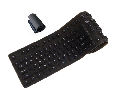 KEY Wired Foldable USB Keyboard BLK