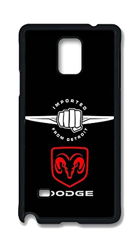 Samsung Galaxy Note 4 Case, Dodge Car Logo 01 Drop Protection Never Fade Anti Slip Scratchproof Black Hard Plastic 3D Case (Galaxy Note 3 Dodge Case compare prices)