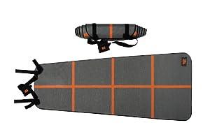 YogaForce A-Line Exercise Mat (Gray/Orange)