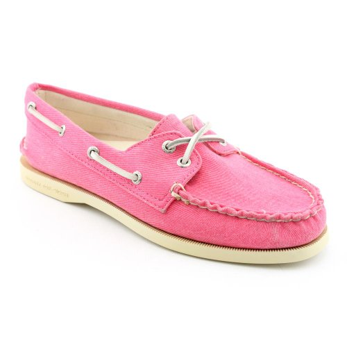 Sperry Top Sider A/O Womens SZ 8 Pink Pink Boat New Canvas Loafers Shoes