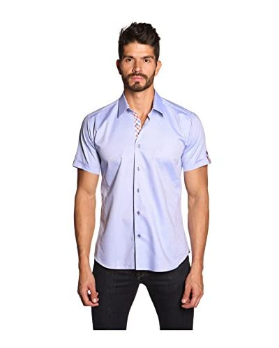 Jared Lang Men's Short Sleeve Shirt with Contrast Details