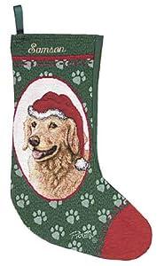 Personalized Dog Christmas Stocking - Golden Retriever