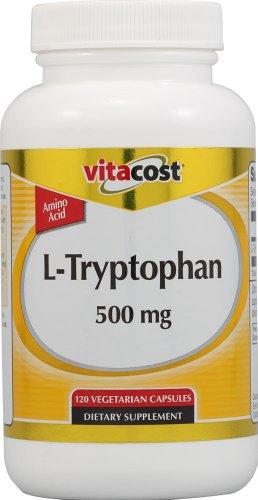 Vitacost L-tryptophane - 500 mg - 120 capsules végétariennes