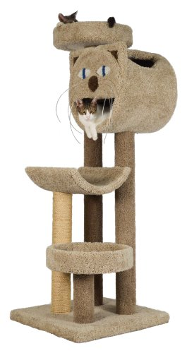 "Molly and Friends ""Whisker's Way"" Premium Handmade 4-Tier Cat Tree with Sisal, Model 2832, Beige"