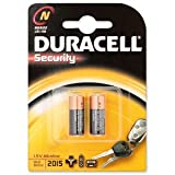 Duracell MN9100N Battery Alkaline for Camera Calculator or Pager 1.5V Ref 81223600 [Pack 2] (81223600)
