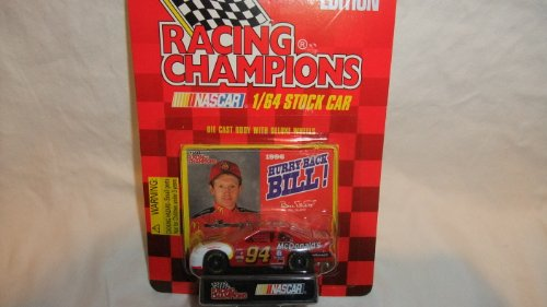 RACING CHAMPIONS 1:64 SCALE 1996 EDITION MCDONALD'S BILL ELLIOT DIE-CAST COLLECTIBLE WITH HURRY BACK BILL! PICTURE CARD