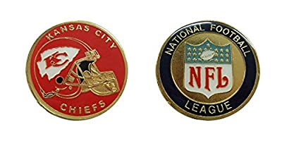 Kansas City Chiefs Collectible NFL Challenge Coin Logo Poker / Lucky Chips & Gift