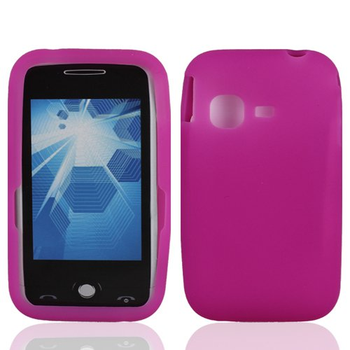 LF Pink Silicon Skin Case Cover, Lf Stylus Pen and Droid Wiper For (metroPCS) Samsung Freeform M SGH-T189N