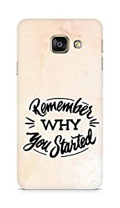 AMEZ remember why you started Back Cover For Samsung Galaxy A3 (2016 EDITION)