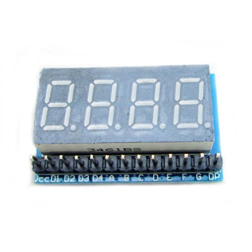 4 Digital 8 Segments Led Module Parallel Highlighted In Red Led Module