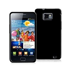 SAMSUNG GALAXY S2 i9100 - SOLID BLACK TPU SKIN CASE