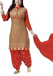 Meghali Women's Cotton Unstitched Salwar Suit (GS5_Multi-Coloured_Freesize)