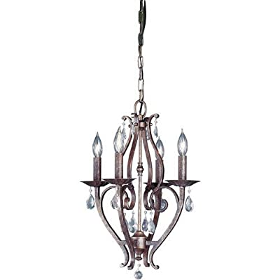 Murray Feiss F1800/4 Mademoiselle Crystal 4 Light Mini Chandelier,