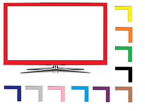 Hellblau 80mm Matt LED LCD TV Folien Dekor Set passend für Ihr Fernseher, heben Sie sich von der breiten Masse ab