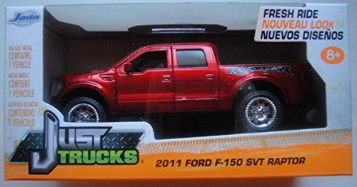 JADA JUST TRUCKS 1:32 scale RED 2011 FORD F-150 SVT RAPTOR DIE CAST