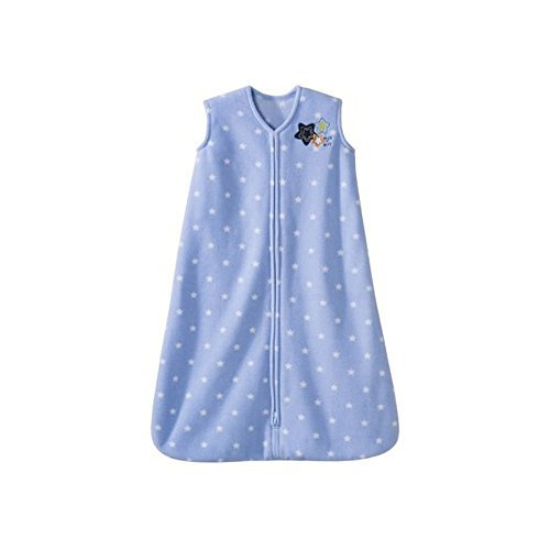 Halo SleepSack Micro-Fleece Wearable Blanket - Blue With Stars - Size SMALL - 1