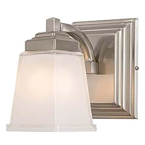 Allen roth elloree brushed nickel bathroom vanity light for Amazon bathroom vanity lights