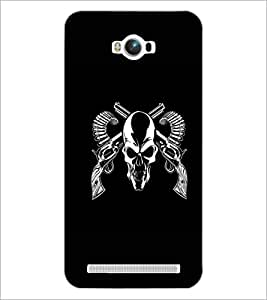 PrintDhaba Skull D-1187 Back Case Cover for ASUS ZENFONE MAX ZC550KL (Multi-Coloured)