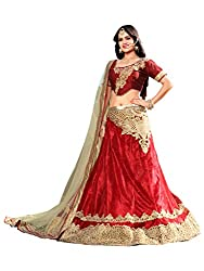 Silvermoon women's Net Embroidered heavy lehenga choli-sm_NMNZA333_Cream and red_free size