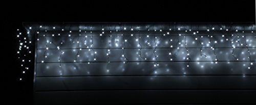 led eisregen lichterkette 200 400 600 lichtervorhang innen aussen kaltweiss oder warmweiss von. Black Bedroom Furniture Sets. Home Design Ideas