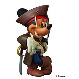 Medicom Disney Pirates of the Caribbean 4 Captain Jack Sparrow Mickey Vinyl Collector Doll