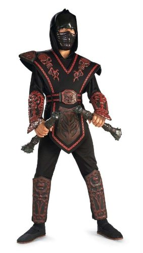 Costumes For All Occasions Ru882152Lg Red Skull Warrior Ninja Chld L