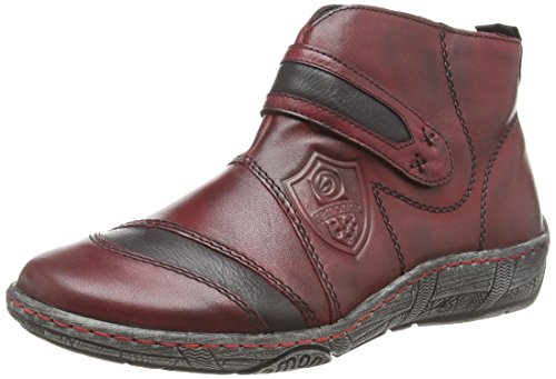 Remonte Dorndorf D3873, Sneaker alta donna, Rosso (Rot (vino/schwarz/wine / 35)), 38