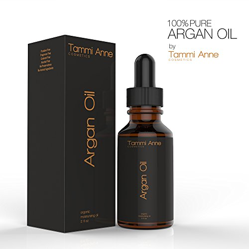 Argan Oil by Tammi Anne Cosmetics ★ TRIPLE EXTRA VIRGIN – GRADE NO 1 ★ Premium Quality 100% Organic For Hair, Skin, Face & Nails – Best Moroccan Anti-Aging, Anti-Wrinkle, Anti-Oxidant Beauty Secret – Prevents Frizz & Increases Natural Hair Shine & Silkiness – Natural Skin Care Products for Women and Men – Nature's Best Beard Oil – Moisturizer for Dry Skin & Cuticles – Pure Oil not a Cream or Serum – USDA & EcoCert Certified