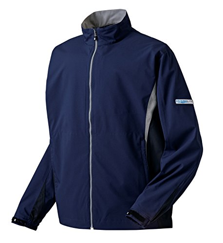 DryJoys FootJoy Hydrolite Rain Jacket Choose Size and Color (Navy/Black/Grey, Large) (Dryjoy Rain Wear compare prices)