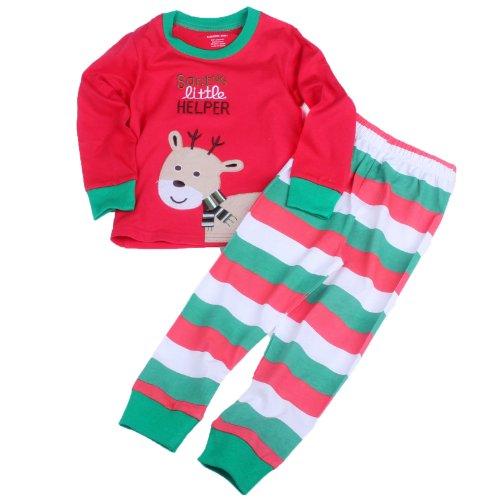Toddler Kid Boys Girls Christmas Pajama T Shirt+Long Pants Ysqa7294 Size T6