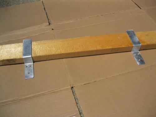 Drop Open Bar Security Door Lock Brackets Fits 2x4 Boards 1 1/2