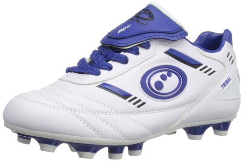 Optimum Boys Tribal Moulded Rugby Boots RBTMSWBJ2 White/Blue 2 UK, 35 EU