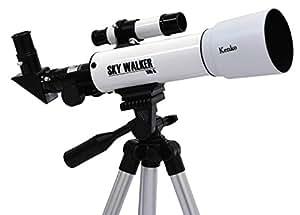 Kenko 天体望遠鏡 SKY WALKER SW-0 屈折式 口径50mm 天体・地上両用 ホワイト 111161