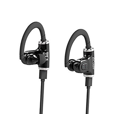 Ecandy Bluetooth 4.0 Earphone with Clear Voice Portable Wireless Stereo Outdoor Sports/Running &Gym/Hiking/Exercise Bluetooth Earbuds Headphones Headsets w/Microphone for iPhone 6 5S 5C 5 4S 4, iPods,HTC One,One mini, One mini 2,iPad Mini, Samsung Galaxy