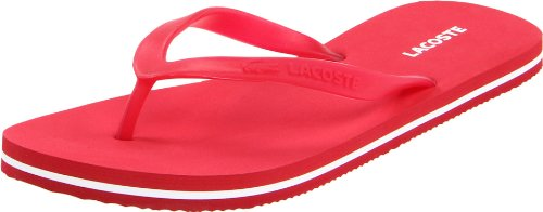 Lacoste Women's Emile Flip Flop,Red/White,8 M US