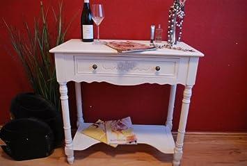 konsole tisch anrichte landhaus antik wei beistelltisch kommode landhaus db681. Black Bedroom Furniture Sets. Home Design Ideas