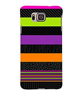 horizontal stripped multicoloured pattern 3D Hard Polycarbonate Designer Back Case Cover for Samsung Galaxy Alpha G850