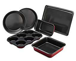 HLC.ME 6-Piece Heavy Gauge Non-Stick Bakeware Set, 6-Piece Set